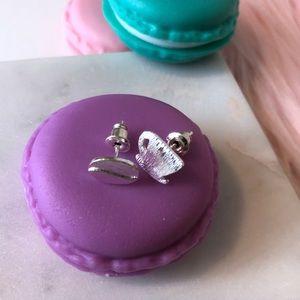 """Latté Love"" Cafe Cup & Coffee Bean Stud Earrings"
